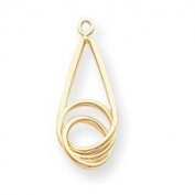 14k Polished Fancy Teardrop Earrings Jackets - JewelryWeb