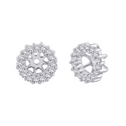 10K White Gold 1/4 ct. Diamond Earring Jackets