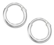Sterling Silver 8mm Endless Wire Hoop Earrings