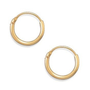1mm x 11mm Endless Hoops Small Hoop Earrings 12K Yellow Gold Filled Click Close, Made in the USA