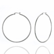 New Stainless Steel Fashion Big Hoop Earrings 6.1cm