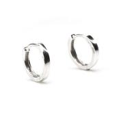 Sterling Silver Polished Finish Hoop Earrings