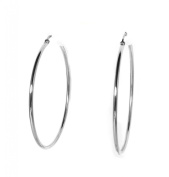 INOX Women's 316L Stainless Steel 5.1cm Hoop Earrings