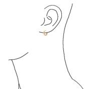Bling Jewellery Sterling Silver Gold Vermeil Classic Huggie Earrings