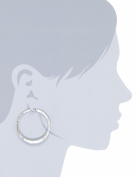 Kenneth Cole New York Hammered Silver-Tone Hoop Earrings