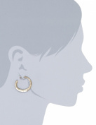 Kenneth Cole New York Post Gold-Tone Crescent Hoop Earrings