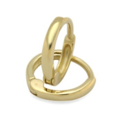 14K Gold Huggie Earrings 1.5mm Domed Small Yellow Gold Huggie Hoop For Babies And Small Kids