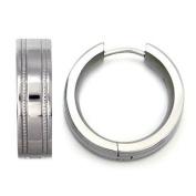 Titanium Milgrain Hoop Earrings