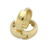 14K Gold Huggie Hoop Earrings 6mm Diameter Domed Small Yellow Gold Hoop For Babies & Small Kids