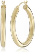 Duragold 14k Yellow Gold Hoop Earrings,