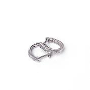 14KWG Diamond Hoop Earrings
