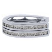 .83 Carat Round Diamond Hoop Earrings