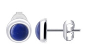 Sterling Silver 6mm Round Blue Lapis Stud Earrings