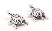 STERLING SILVER MINI SWIMMING TURTLE EARRINGS ON POSTS