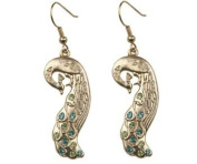 Peacock Earrings - Collectible Jewellery Accessory Dangle Studs Jewel