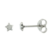 Very Tiny Sterling Silver Star Stud Earrings 0.5cm