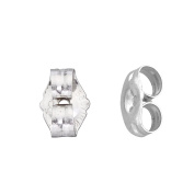 14k White Gold Replacement Earring Backs Pair