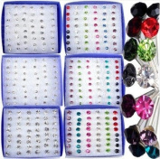 Wholesale 144Pairs(6boxes) Crystal Earring Studs Bulk