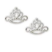 Sterling Silver Disney Princess Tiara Stud Earrings