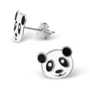 925 Sterling Silver Children's Panda Earrings - Nickel.