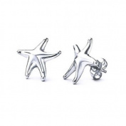 Bling Jewellery Starfish Stud Earrings 925 Sterling Silver