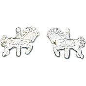 Sterling Silver Carousel Horse Earrings Jewellery