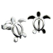 925 Silver Turtle Stud Earrings Hawaiian Jewellery