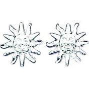 Sterling Silver Sun Stud Earrings Ear Jewellery