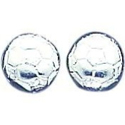 Sterling Silver Soccer Ball Stud Earrings Jewellery