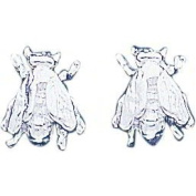 Sterling Silver Fly Stud Earrings Insect Jewellery