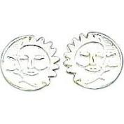 Sterling Silver Sun & Moon Earrings Ear Jewellery