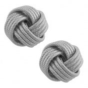 Rhodium-plated Sterling Silver Textured Love Knot Earrings