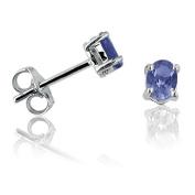 Tanzanite Stud Earrings set in Sterling Silver .65cttw