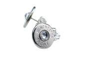 Classy, Dainty Winchester .45 Colt Nickel Bullet Head Earrings