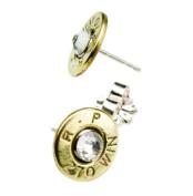 Classy, Dainty .270 Brass Bullet Head Earrings