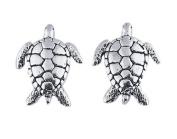 Sea Turtle Ear Studs Sterling Silver Tiny Post Earrings Ocean Marine Nautical Jewellery