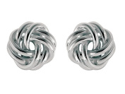 Sterling Silver Love Knot Earrings 10mm LIFETIME WARRANTY