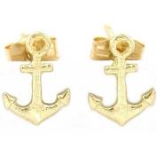 14K Gold Anchor Earrings Naval Sailing Nautical Jewellery