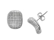 Zoe R(tm) Sterling Silver Micro Pave Hand Set Cubic Zirconia (CZ) Earrings