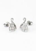 Alpha Chi Omega Sterling Silver Lyre Earrings