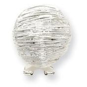 Sterling Silver Omega Back Earrings - JewelryWeb