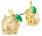 """Juicy Couture """"Shoreline Shades"""" Peach Gold Studs Earrings"""