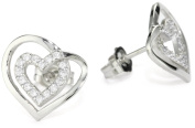 "Myia Passiello ""Essentials Hearts. Pure Brilliance Zirconium Framed Heart Stud Earrings"