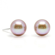 HinsonGayle AAA 7.5-8.0mm Naturally Pink Cultured Pearl Stud Earrings