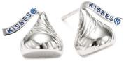 Hershey Jewellery Sterling Silver Small Flat Back Shaped Stud Type Earrings