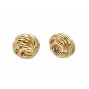 14K Gold LOVE KNOT EARRING LG. Jewellery
