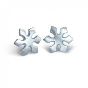"Alex Woo ""Little Seasons"" Sterling Silver Snowflake Earrings"