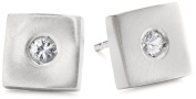 """Rotenier """"Disc and Square"""" Sterling Silver Square with Sapphires Studs"""