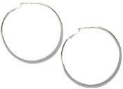 Nine West Large Flat Hoop Earrings