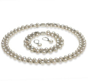 PearlsOnly Weave White 6.0-6.5mm A Freshwater Cultured Pearl Set